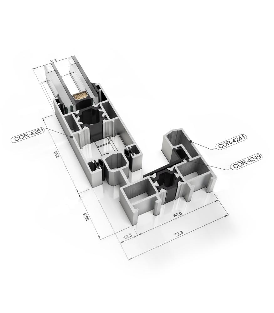 Sistemul Veka 70 mm