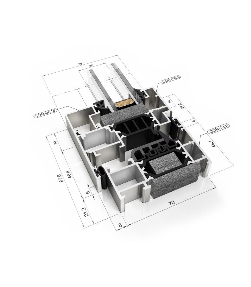 Sistemul Veka 70mm