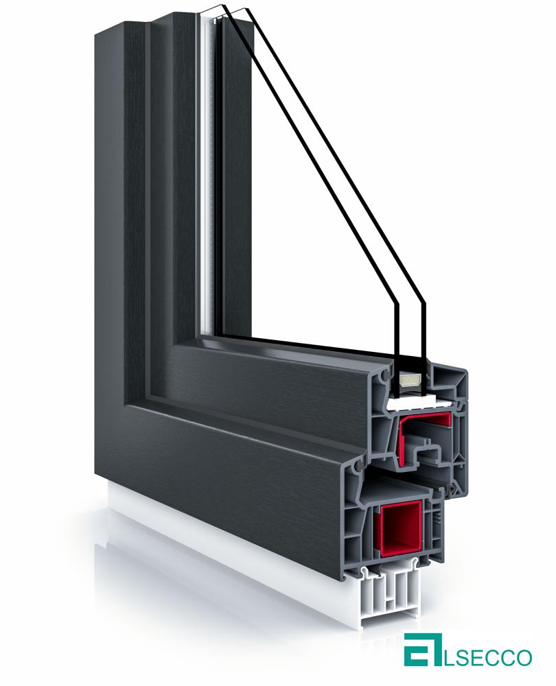 Sistemul de ferestre veka 76 negru